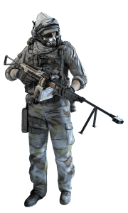 Spec ops Soldier in the Winter Pack